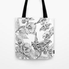 Moths & Camellias Tote Bag