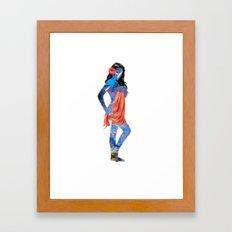 Water Pin Up Girl Framed Art Print