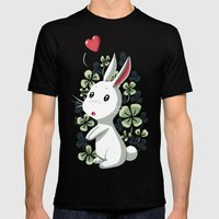 Clover Bunny Mens Fitted Tee Black SMALL