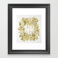 That's Life – Gold On … Framed Art Print