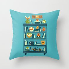Mario Shelf Throw Pillow