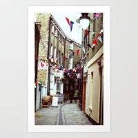 Flags in Greenwich Village Art Print