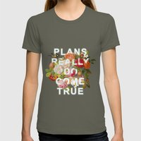 Plans Really Do Come Tru… Womens Fitted Tee Lieutenant SMALL