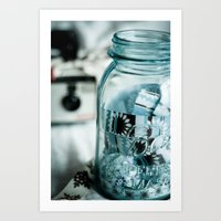 Ribboned Jar  Art Print