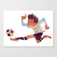 Lionel Messi, Argentina Jersey Canvas Print