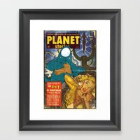 URBNPOP PLANET STORIES Framed Art Print
