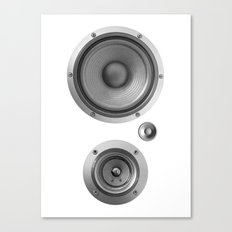 Subwoofer Speaker on white Canvas Print