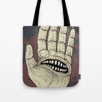 Hungry Hand Tote Bag