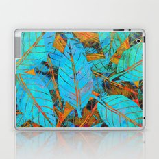 Blue & Orange Leaves Laptop & iPad Skin