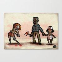 The Walking Dead Canvas Print