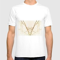 Branches#01 Mens Fitted Tee White SMALL