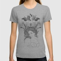 Dreams Womens Fitted Tee Athletic Grey SMALL