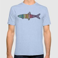 fish Mens Fitted Tee Athletic Blue SMALL