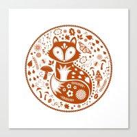 Copper Fox Canvas Print