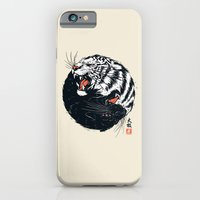tiger iPhone & iPod Cases featuring Taichi Tiger by Steven Toang