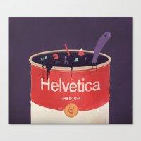 Helveti-soup Canvas Print