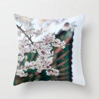 Blossoms Near The Bell, … Throw Pillow