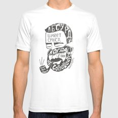 absurd SMALL White Mens Fitted Tee
