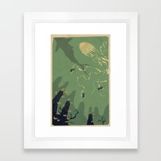 Meanwhile, deep below.... Framed Art Print