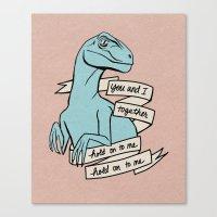 Blue raptor Canvas Print