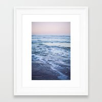 Pacific Ocean Waves Framed Art Print