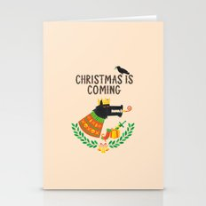 Christmas Is Coming Stationery Cards