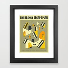 EMERGENCY ESCAPE PLAN 3 Framed Art Print