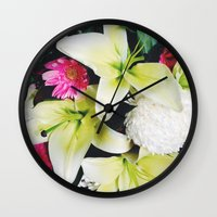 Flowers Galore Wall Clock