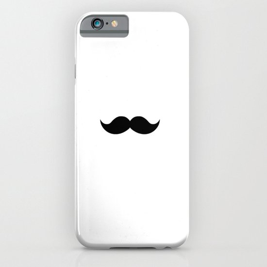white mustache iPhone & iPod Case