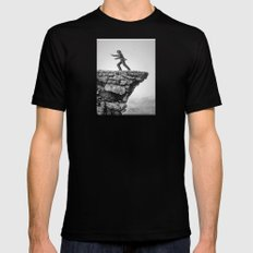 GAINING GROUND SMALL Black Mens Fitted Tee