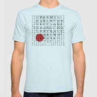 Wordsearch LOVE: Freedom  Mens Fitted Tee Light Blue SMALL