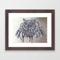 Punk'n Owl Framed Art Print