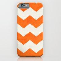chevron-orange iPhone 6 Slim Case