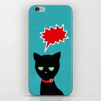 Cat -Black Cat iPhone & iPod Skin