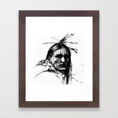 White Belly - Native American Indian Framed Art Print
