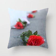 Flight 93 Memorial/Trail of Roses Throw Pillow