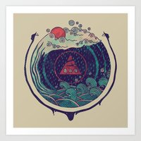 water Art Prints featuring Water by Hector Mansilla