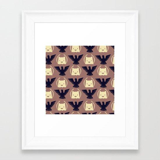 Imperial yeti Framed Art Print