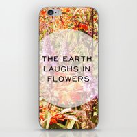 The Earth Laughs In Flow… iPhone & iPod Skin