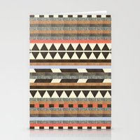 patterns Stationery Cards featuring DG Aztec No.1 by Dawn Gardner
