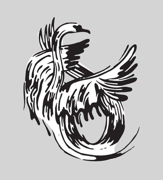 S as in Swan Art Print