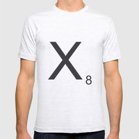 Scrabble X Mens Fitted Tee Ash Grey SMALL