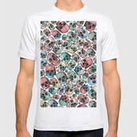 Skulls Mens Fitted Tee Ash Grey SMALL