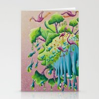 the flamingo world Stationery Cards