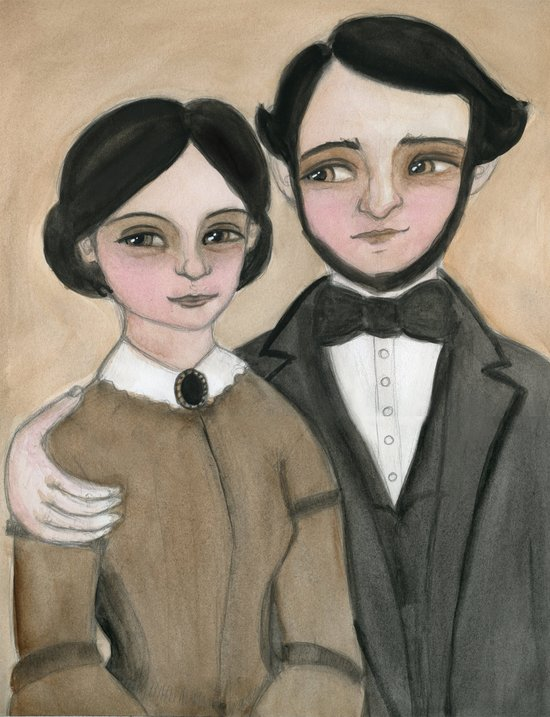 Victorian Couple in Love Art Print