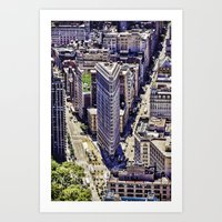 Flat Iron Top View Art Print
