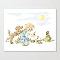Beginning, Nature, Boy P… Canvas Print