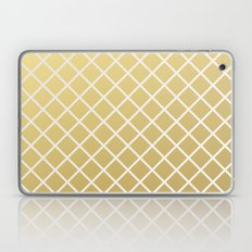 Pineapple Pattern Gold Laptop & iPad Skin
