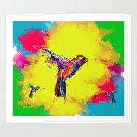 COLOUR EXPLOSION HUM Art Print