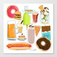 Food Stuffs Canvas Print